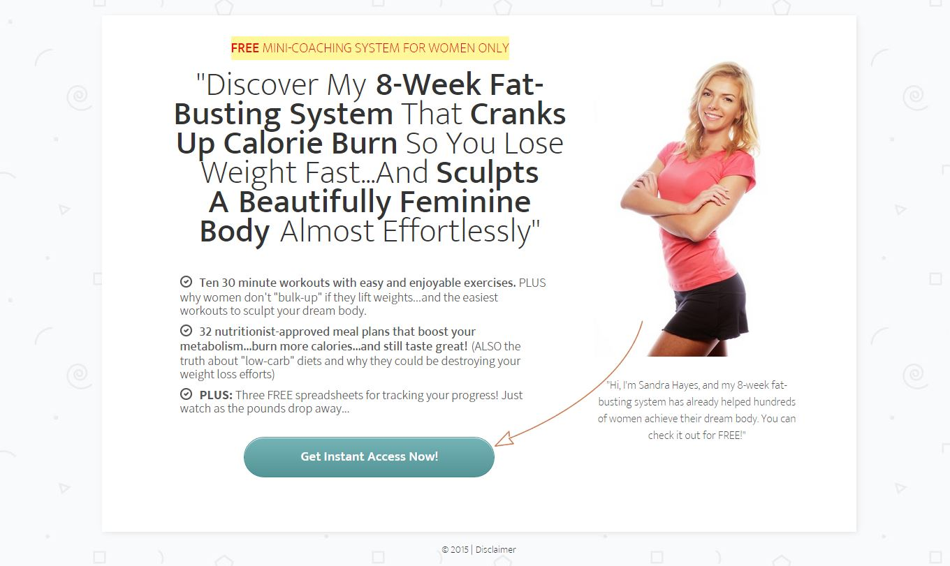 Weight Loss Lead Generation Page